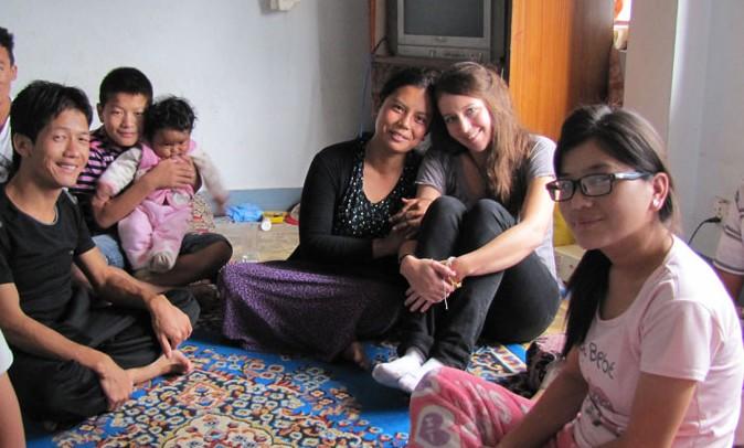 Ngawang Dolma et sa famille